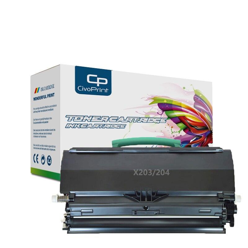 Civoprint-خرطوشة حبر متوافقة مع 6500 صفحة ، مع شريحة X203 X204 ، لـ Lexmark X203 X203n X204 X204n