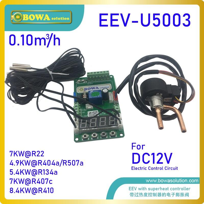 0.1m 3/h EEV con controlador 12Vdc y 4 Uds. Sensores NTC es la mejor opción para diferentes refrigeración móvil y acondicionador de aire