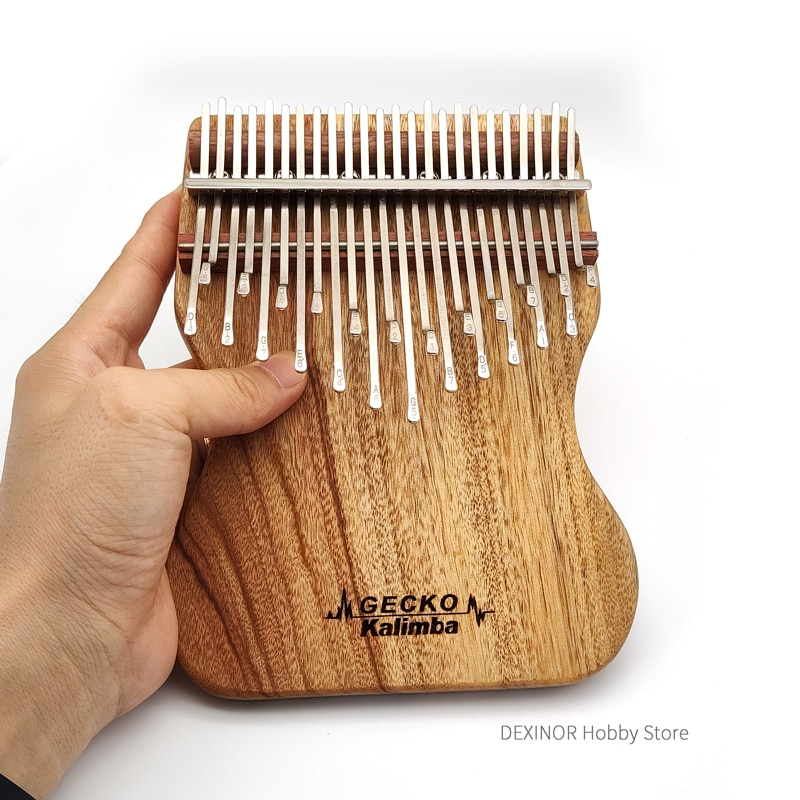 Gecko Kalimba 24 Key Camphor Wood Musical Boxes Thumb Piano Mbira Xylophone Music Instruments Complete Accessories With Case enlarge