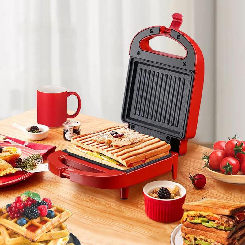 Sandwichera eléctrica multifuncional, máquina de desayuno de 2020 W, 650 V, horno...
