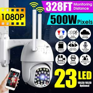 23 LED 1080P Wifi IP Camera P66 Waterproof Two-way Audio Speed Dome Automatic Tracking Security Camera CCTV Surveillance
