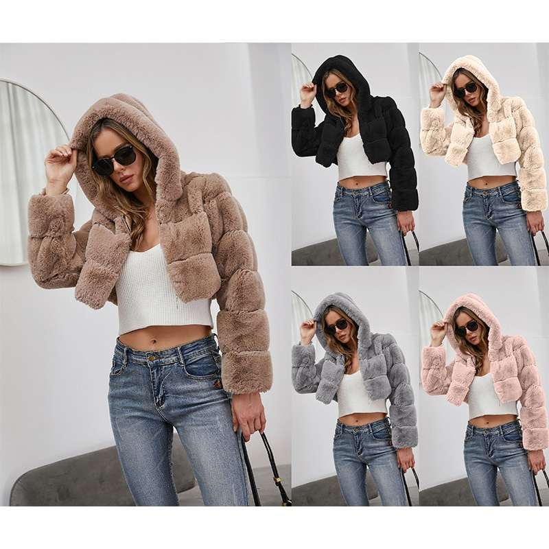 Новинка 2021, модное осенне-зимнее пальто из искусственного меха, модные куртки, жакеты на зиму, элегантные куртки, теплые куртки