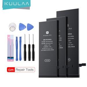 Аккумулятор KUULAA для iPhone 5S 6 6S 7 8 Plus X 6Plus 10, оригинальная сменная батарея большой емкости для iPhone 6, iPhone 7