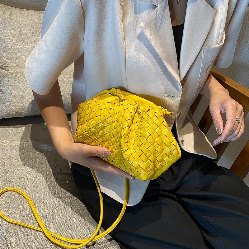 Moda feminina tecido sacos de ombro couro do plutônio tendência nova criatividade crossbody saco juventude feminino compras pacote diário