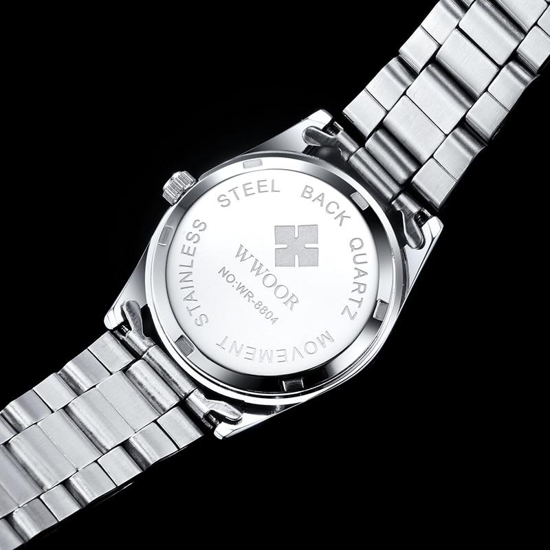 WWOOR Brand Luxury Elegant Ladies WristWatch Simple Fashion Stainless Steel Bracelet Quartz Dress Women Watches Relogio Feminino enlarge