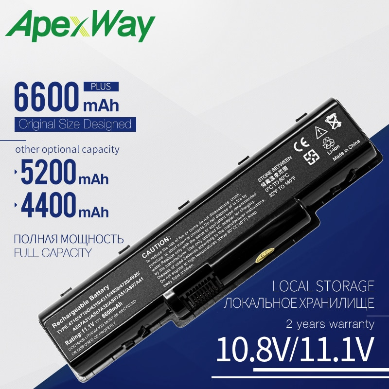 Apexway de batería para Acer Aspire 5734Z 5735 5735Z 5737Z 5738 5738DG...