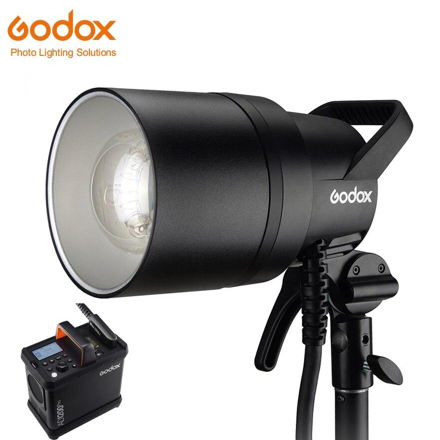 Godox AD1200Pro AD1200 Pro Studio luz de iluminación 1200Ws 2,4G TTL 1/8000 HSS 40W al aire libre estroboscópica Flash compacto 5600K