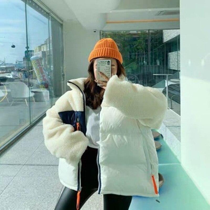 Ins Korean Style Chic Design Patchwork Simple Coat for Ladies Elegant All-match Comfort Light Coat Velvet Coat 2020 New Women недорого