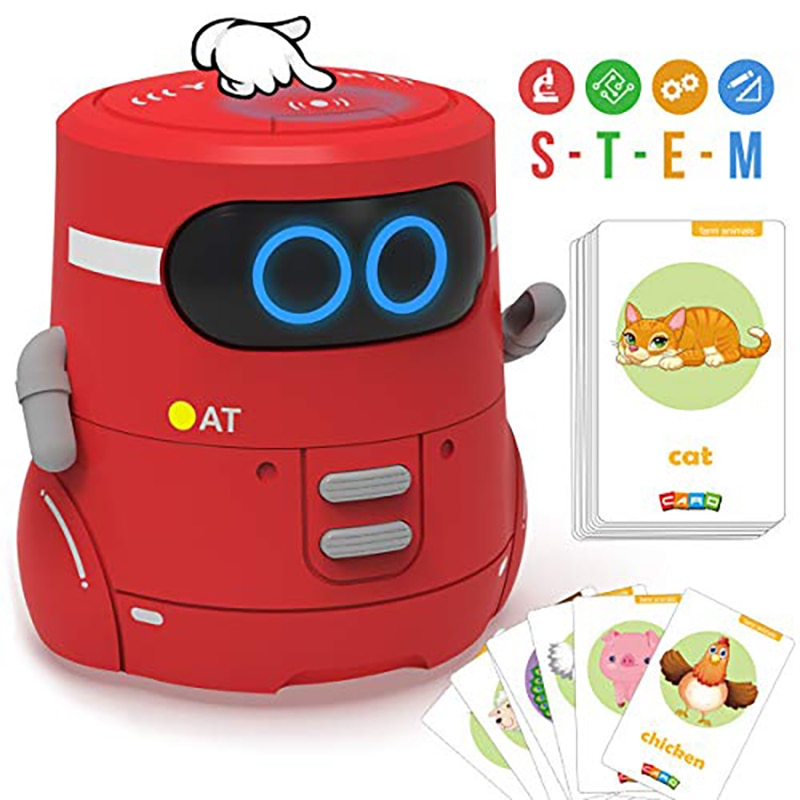 Toy Robot Intelligent Robot Educational Interactive Robotics Touch Control Toy Interactive Robot Cute singing Toy Gift for kids enlarge