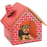 pet house foldable bed soft winter brick pattern dog puppy cushion house kennel nest dog cat bed for small medium dogsg30