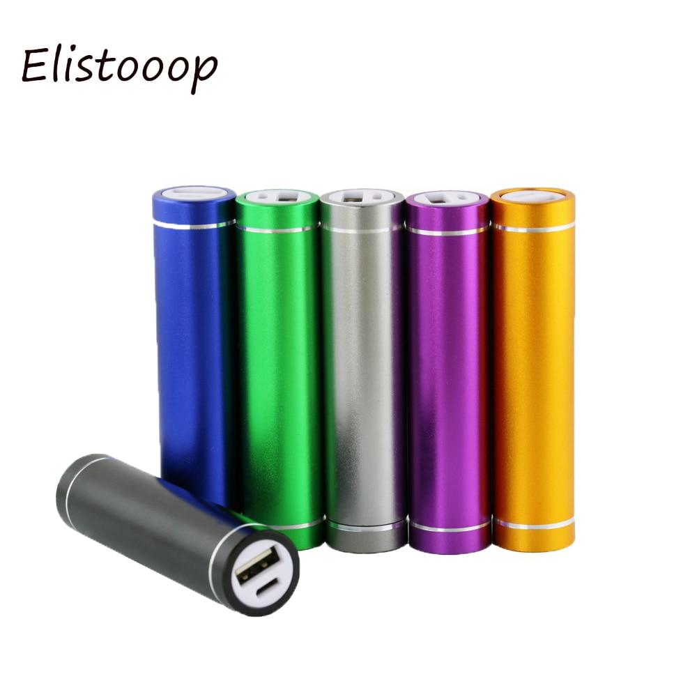 Batería Externa 18650, caja de almacenamiento de batería externa, batería de traje de soldadura gratis, cargador externo USB 5V 1A para xiaomi samsung iphone