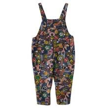 2021 New Fashion Lady Cartoon Denim Overalls Jumpsuit Rompers Jeans Bib Hollow Out Pocket Women Casu