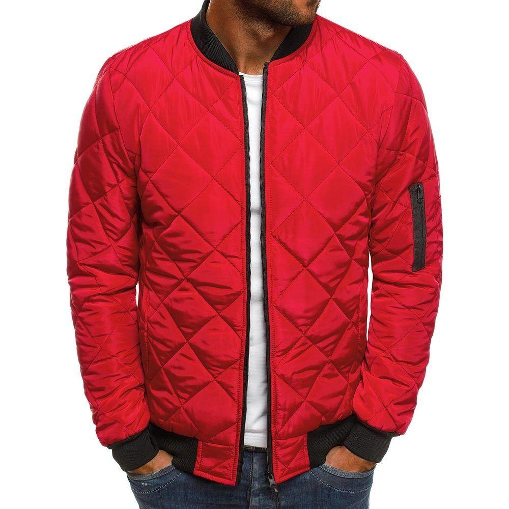 Новая мужская однотонная куртка Lingge, стеганая куртка, Мужская Зимняя Теплая стеганая куртка, Мужская стеганая куртка