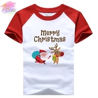 christmas girls clothes santa claus printed t shirt teenagers clothing boys clothing short sleeve christmas gift for children