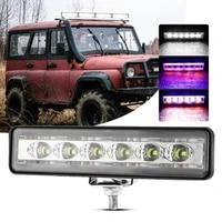 18w 14 leds work light bar driving lamp portable led flood lights 12v 60v 6500k emergency lamp for outdoor suv boat bar truck