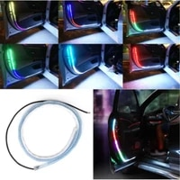 car door welcome light strips car styling auto strobe flashing ambient atmosphere lights safety 12v led opening warning lamp new