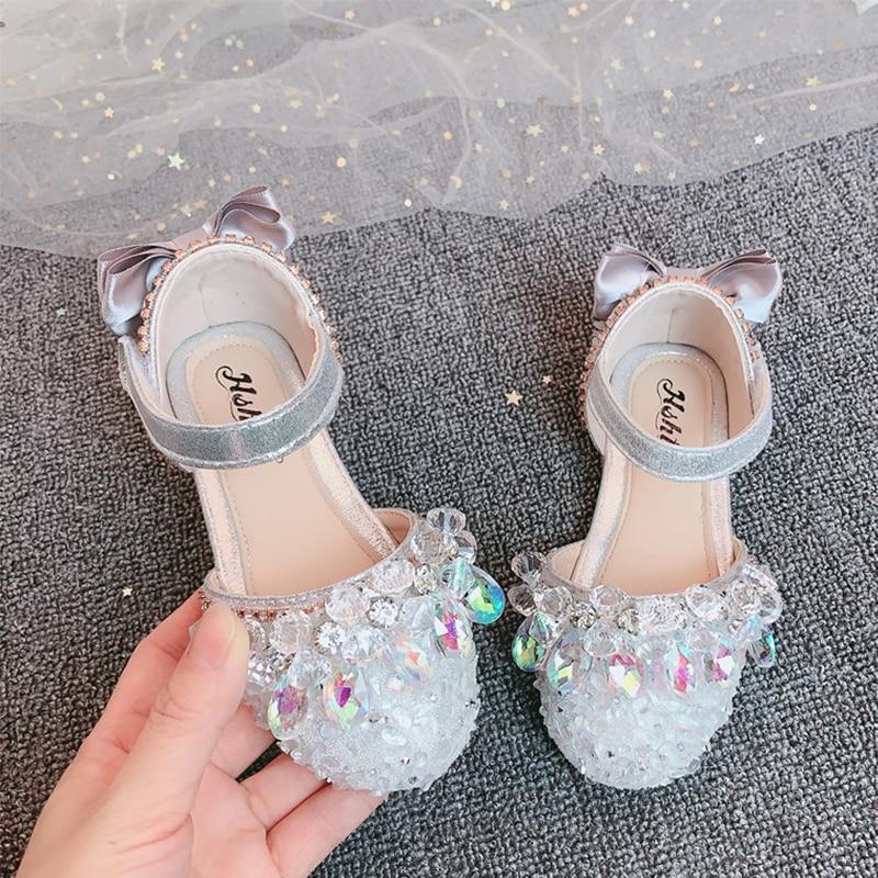 YIHONGMEIQI جديد خريف 2020! حذاء أميرة للبنات ، حذاء أميرة رسمي ، حذاء فتاة صغيرة ، مقاس أوروبي 23-35