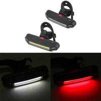 Велосипед спереди и сзади светильник Водонепроницаемый светодиодный вспышка светильник задний фонарь Велоспорт зарядка через USB Безопасн...