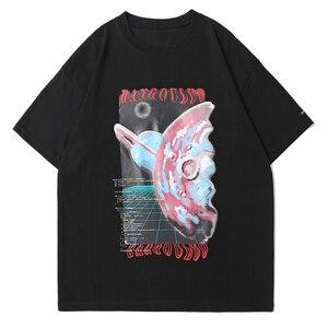 LACIBLE Men Hip Hop Streetwear T Shirt Harajuku Letter Graphic Print Tshirt Cotton Casual 2021 Summer Short Sleeve Black White