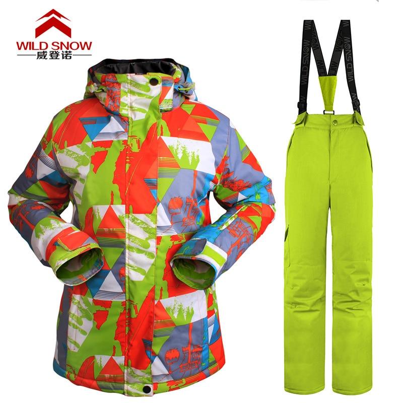 Professional Outdoor Winter Sports Ski Suit WOMEN'S Set Strength Businesses Wholesale
