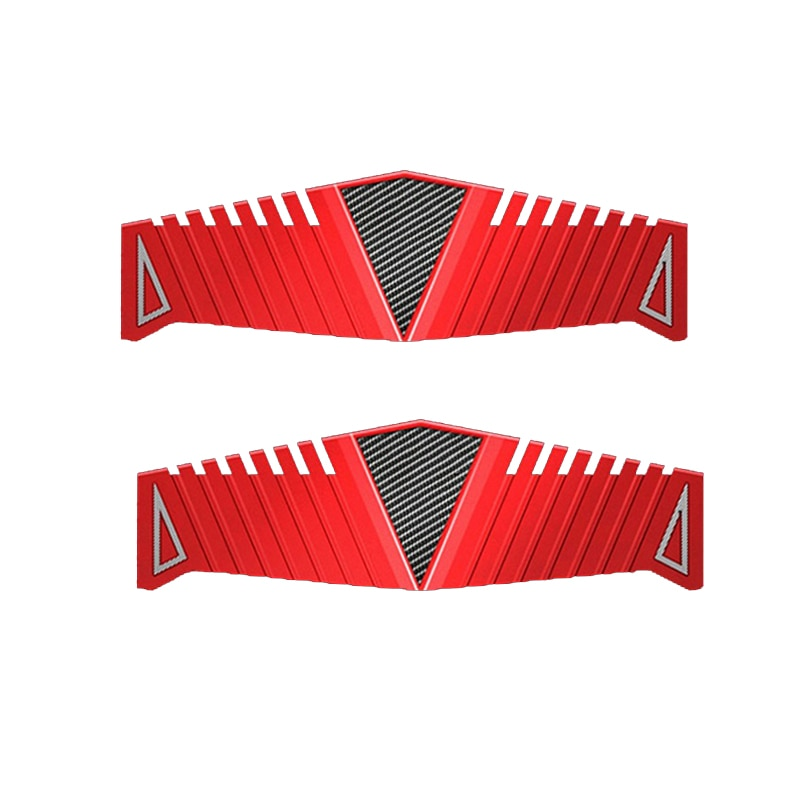DDR2 DDR3 DDR4 теплоотвод ОЗУ радиатор Охлаждающий радиатор 40x126 мм для настольной памяти красный теплоотвод