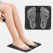 Foot Massager-Electric Foot Massage Cushion Soft Health  Machine Beauty Leg Rechargeable Massager ,D
