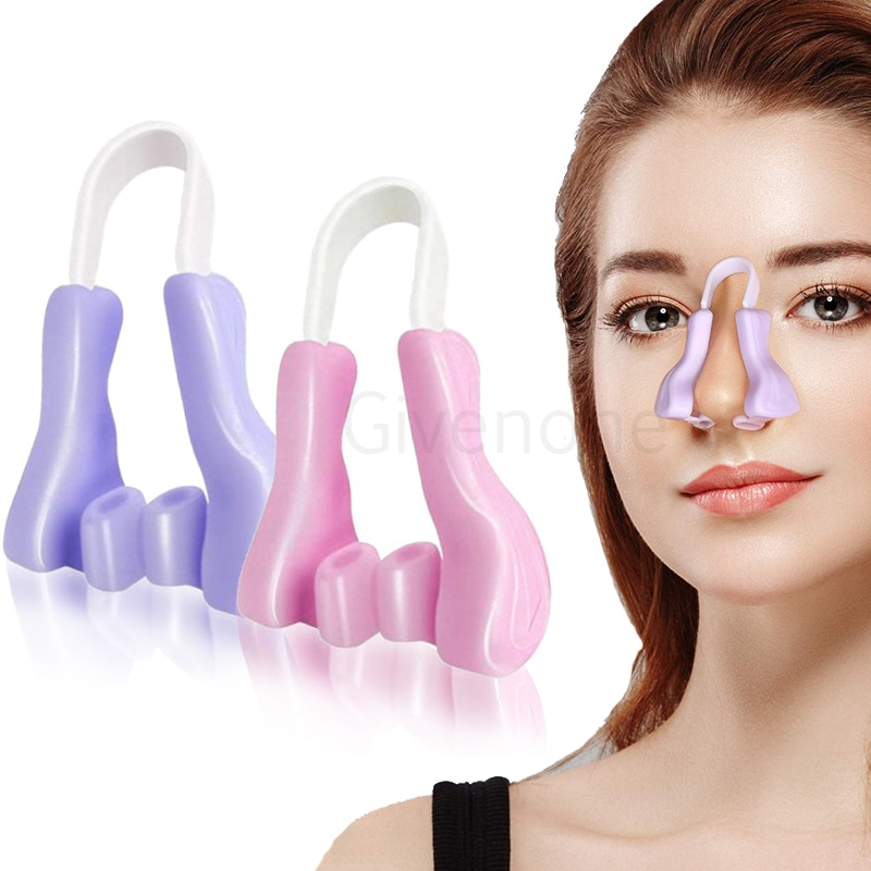 beauty tools to enhance the nose correction beauty clip facial clipper correction tool correction beauty nose clip two piece Nose Up Shaping Shaper Soft Silicone Nose Corrector Magic Nose Shaper Clip Beauty Nose Slimming Device Facial Care Beauty Tools