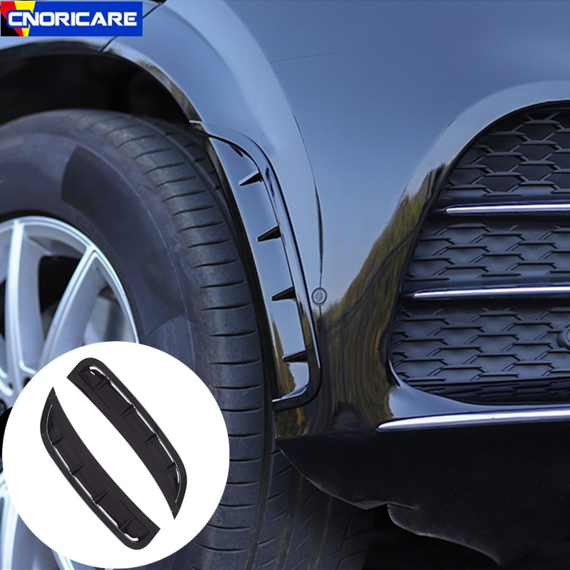 Coche Styling Shark Cheek Vents parachoques delantero ingesta mordaza para Mercedes Benz GLE W167 2020 rueda ceja pegatinas decorativas