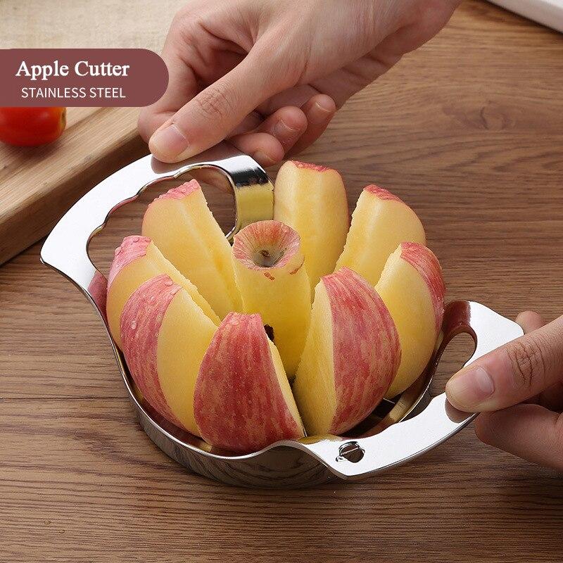 أدوات المطبخ الفولاذ المقاوم للصدأ أداة تقطيع التفاح القطاعة الخضار الفاكهة الكمثرى أداة تقشير التفاح مقسم اكسسوارات المطبخ أدوات