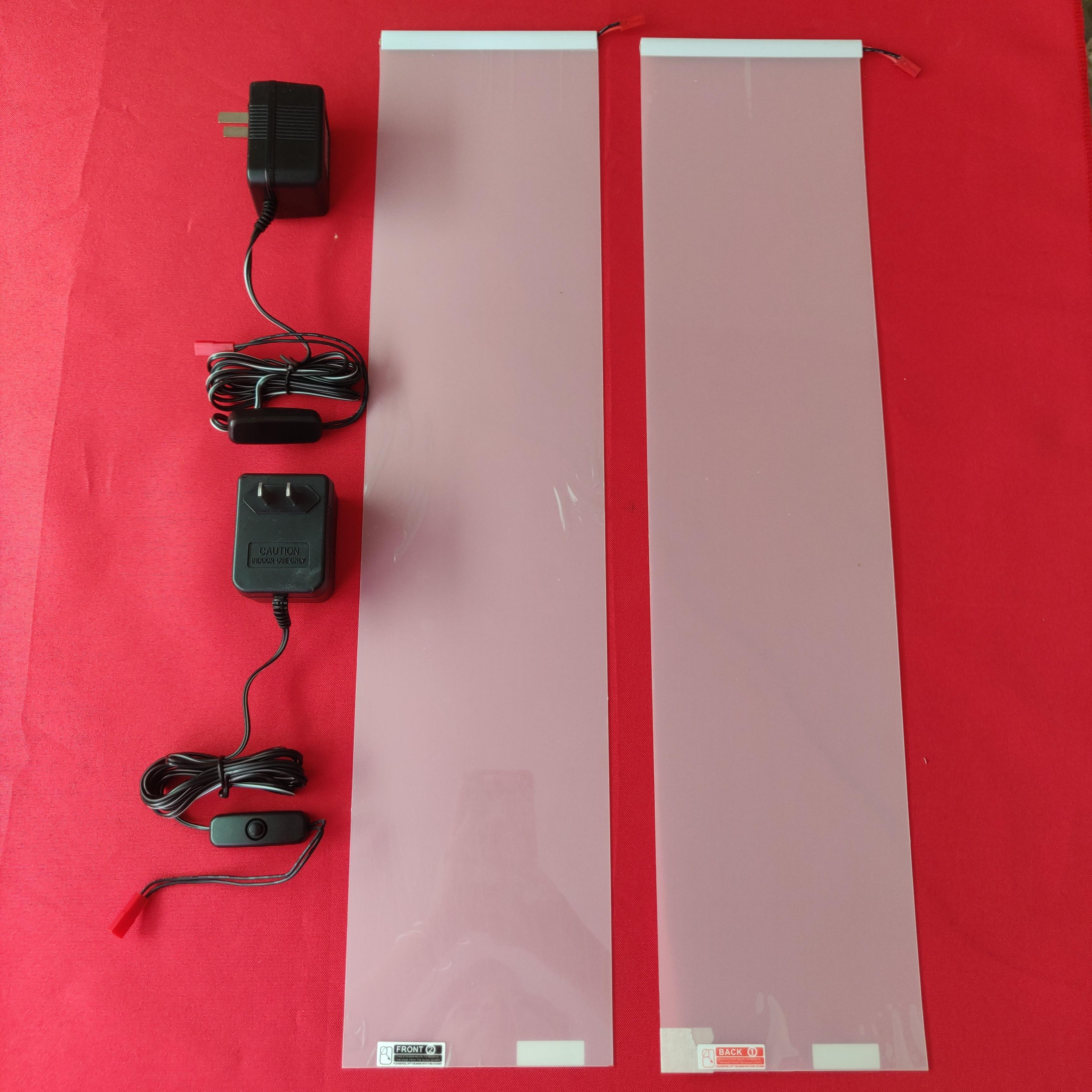 2 STUKS 120*520mm Wit Smart Schakelbare dimmen Glas PDLC Film Smart Tint Film self-garenloos