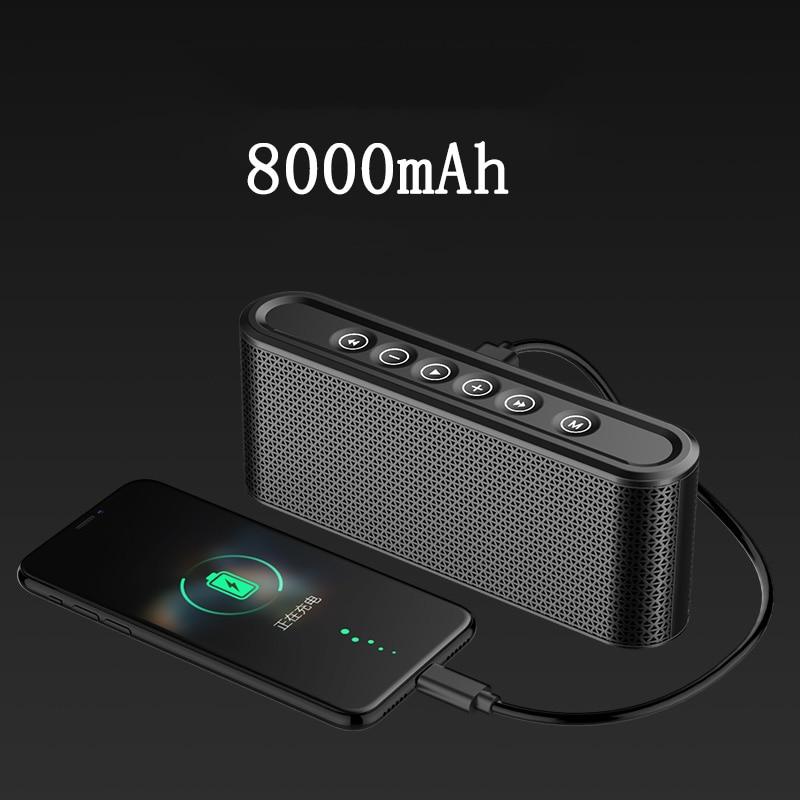 مكبر صوت بلوتوث مع بنك طاقة 8000 مللي أمبير ، نظام صوت ستيريو ، مركز موسيقى ، مضخم صوت لاسلكي 10 واط ، راديو USB ، مكبر صوت MP3 محمول للسيارة