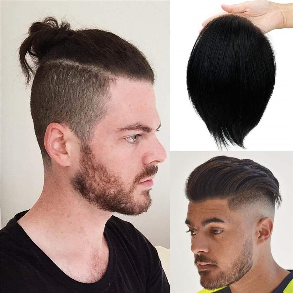 Eseewigs هيربيسي أحادية الدانتيل مع بو استبدال 12 بوصة طول طويل مستقيم الشعر المستعار البرازيلي ريمي الإنسان الشعر اللون الطبيعي 1b #