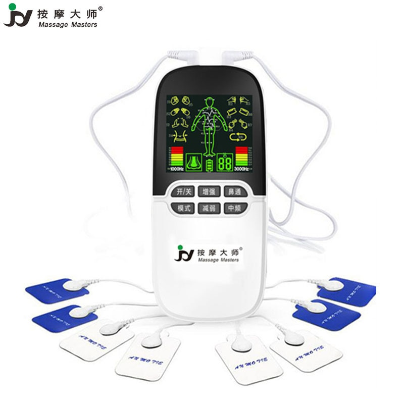 Duplo canal ems dezenas unidade máquina estimulador muscular ems pulso eletrônico massageador elétrico herald máquina dezenas bionase