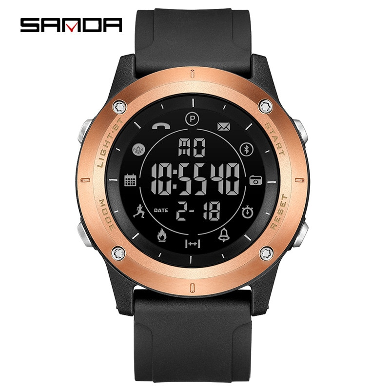 Relojes inteligentes deportivos SANDA 5011 pulsera Bluetooth reloj para hombre 50m podómetro luminoso impermeable alarma de reloj inteligente fotografía 2020
