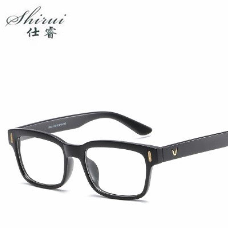 Shirui moda V gafas cuadradas gafas ópticas marcos para mujeres ojo de gato gafas marco hombres gafas montura Oculos