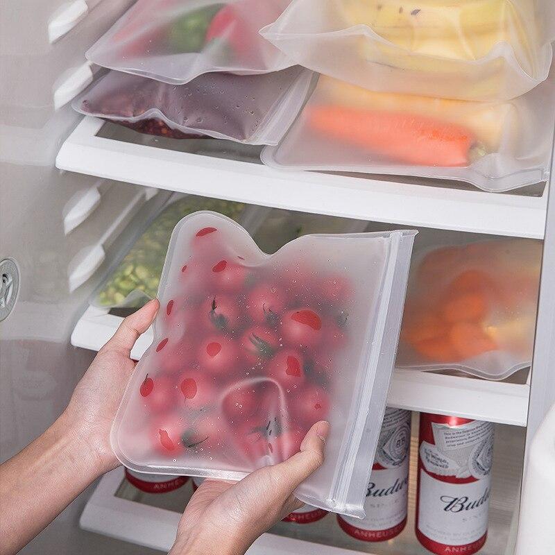 Пакеты для хранения пищевых продуктов, пакеты для хранения пищевых продуктов, герметичные пакеты для фруктов и овощей, многоразовые пакеты ...