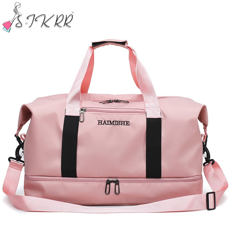 S.IKRR Oxford Travel Bags For Women 2021 Large Capacity Sports Bag Fitness Waterproof Weekend Bag Duffle Female Luggage Handbag 2020travel bag for woman large capacity oxford waterproof bags fashion weekend bag hand shoulder female duffle bag free shipping