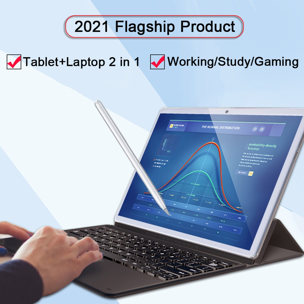 11.6 Inch Working Tablet 4G Network Portable Android Tablet 2 in 1 Laptop GPS Gaming Tablet With Keyboard 13MP Camera