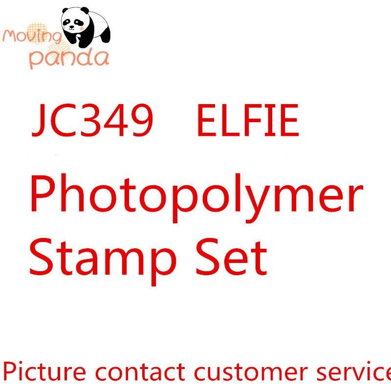 Panda en movimiento JC349 ELFIE Stamp set troqueles de corte de Metal y sellos troqueles para artesanía troqueles álbum de recortes en relieve nuevas troqueles