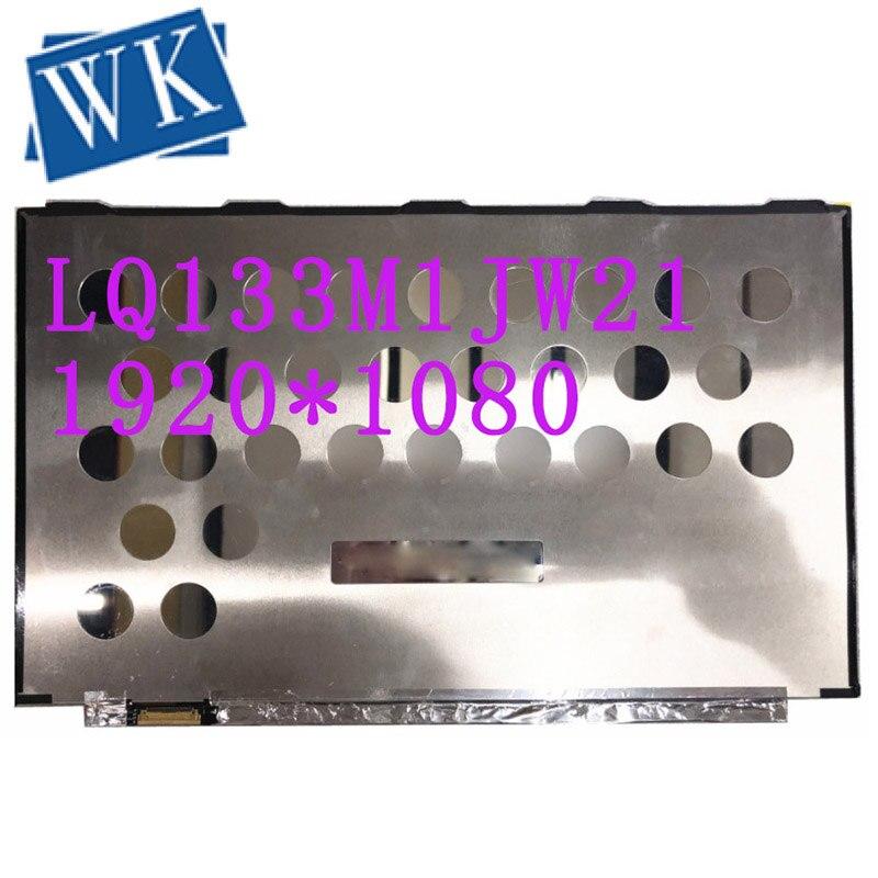 "Frete grátis LQ133M1JW21 LQ133M1JW11 LQ133M1JW23 13.3 ""IPS Tela Do Laptop LCD 1920*1080 EDP 30 Pinos Não-toque DP/N 0DJCP6"