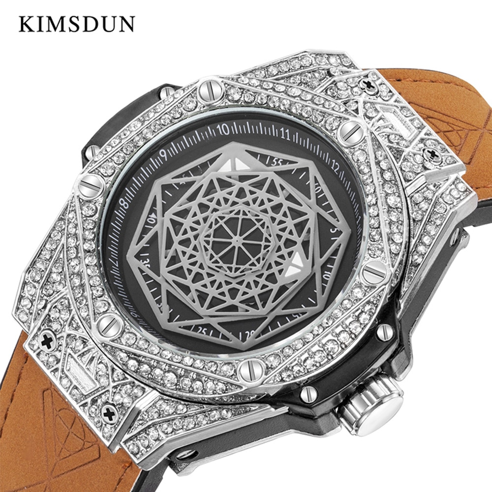 KIMSDUN, reloj impermeable de moda hombre 2020 para hombre, reloj casual de lujo herren uhren, regalo para novio, reloj de pulsera de hombre