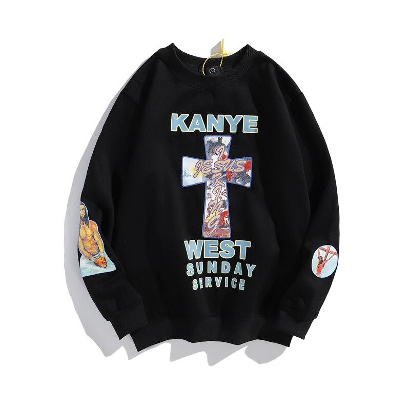 Sudadera Kanye West JESUS IS KING con carta de espuma y forro polar para hombre y mujer