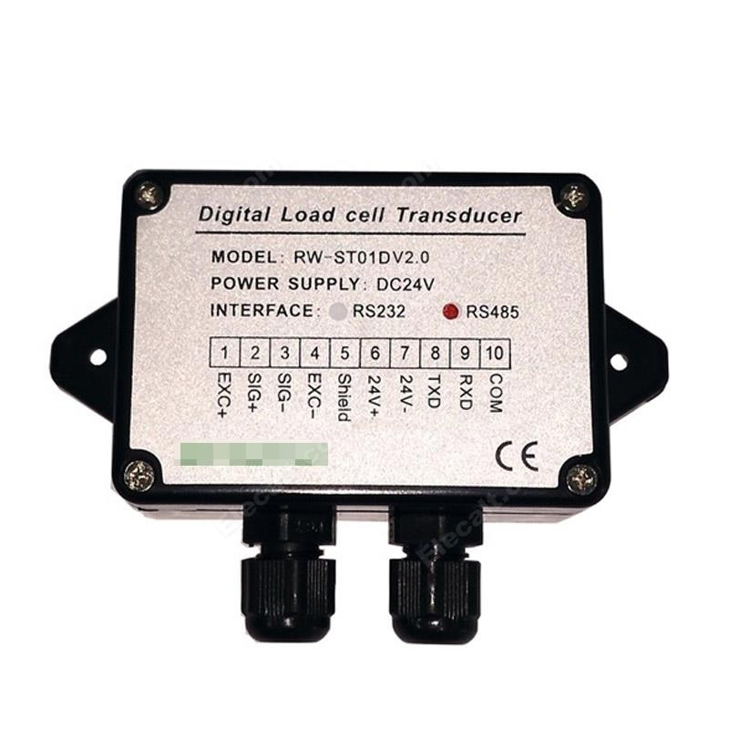 وزنها قوة الاستشعار الارسال RW-ST01D تحميل خلية مكبر للصوت RS485/RS232 DC24V الدقة 0.1%