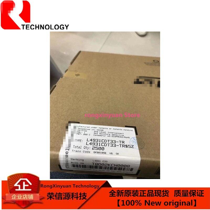 10 pçs/lote L4931CDT33-TR to-252 l4931cdt33 l4931 muito baixa gota reguladores de tensão com inibit 100% novo original