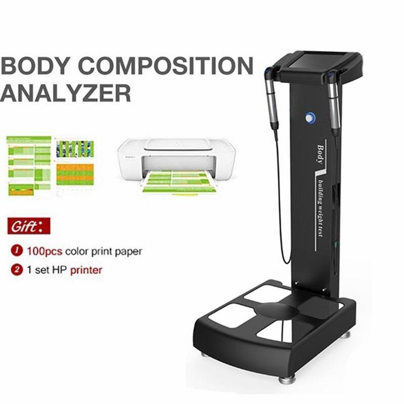 المهنية Bmi الجسم الدهون تحليل آلة محلل تكوين الجسم لتحليل الجسم الصحة الدهون محلل مع طابعة A4