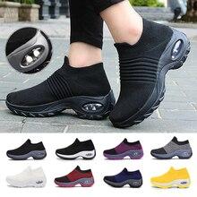 Women Tennis Shoes Air Cushion 5CM Height Increase Sports Sneakers Breathable Female Walking Sock Sh