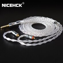 NICEHCK LitzPS-Pro Upgrade Kabel 8 Core 4N Litz Reinem Silber Kabel 3,5mm/2,5mm/4,4mm MMCX/NX7/QDC/0,78 2Pin für MK3 ST-10s KXXS