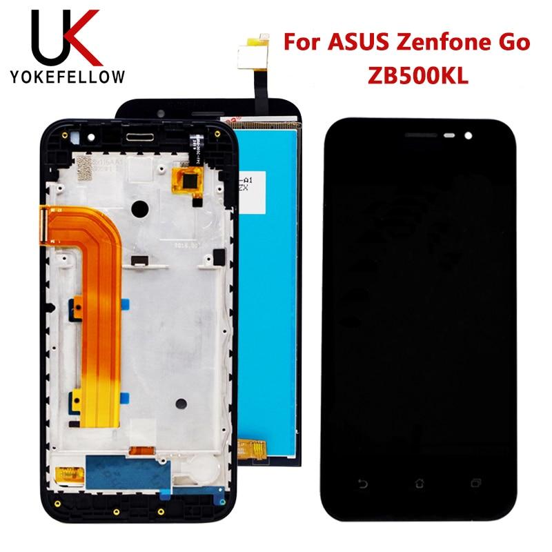 LCD para ASUS Zenfone Go ZB500KL pantalla LCD X00AD pantalla LCD Sensor de Digitalizador de pantalla táctil montaje de Panel de vidrio