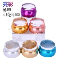 nail stamping toolsilicon jelly stamper metal transparent manicure seal transfer tool printing head multi color handle scraper