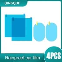4pcs set rearview mirror protective film anti fog rainproof film for car windows waterproof membrane
